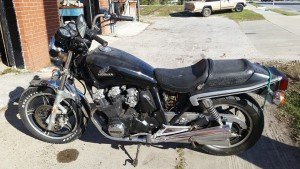 Bryant's Towing Used Car Inventory Lake City Florida, 1983 Honda 750 motor cycle. Our motorcycle towing service picked this up however the bike was wrecked so the owner sold the bike to us.